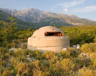 Near Dhermi - bunkers are common sight in Albania.