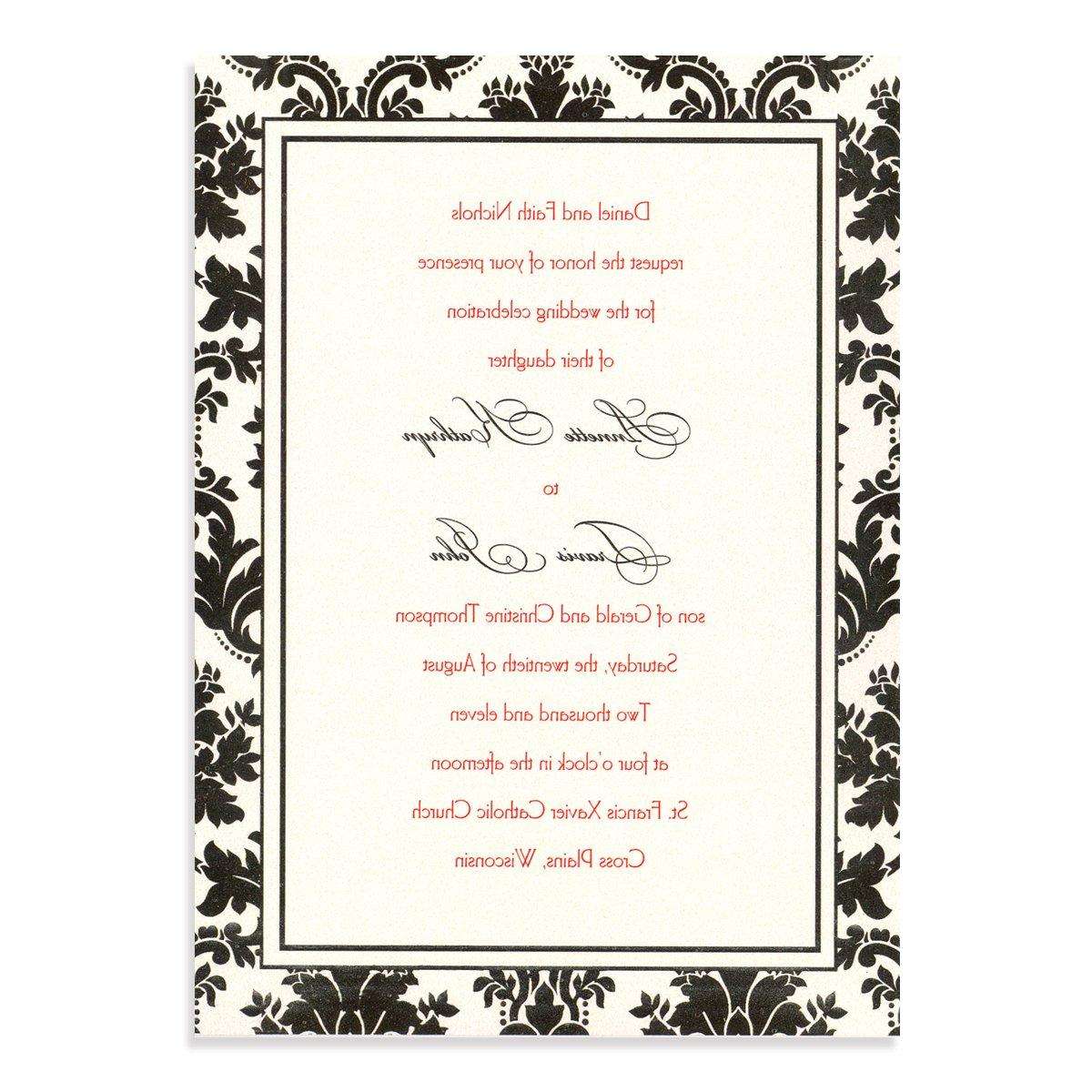 free damask wedding