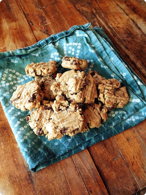 grain free cassava flour chocolate chip cookies