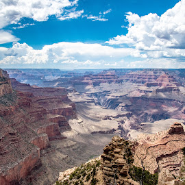 GC by Sabastian L - Landscapes Caves & Formations ( view, rocks, rock formations, grand canyon, clouds )