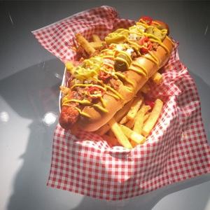 TGI Fridays hotdog