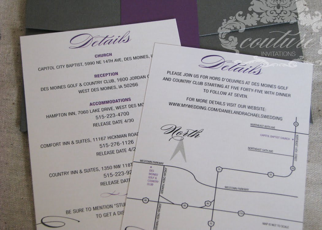 gray and purple wedding