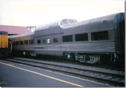 BKSX Dome Coach #9544 Silver Scene at Union Station in Portland, Oregon on May 11, 1996