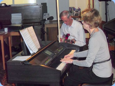 Our guest artists were Brian and Denise Gunson. Brian was using his G&L electric guitar and Denise was using the Club's Clavinova CVP-509.