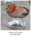 Mousse au Chocolat - mit Erdbeeren