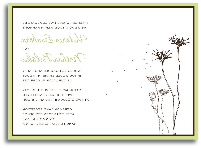 wedding invitation ivory sage