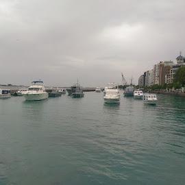 boats by Abd Azaam - Transportation Boats ( luxury, male, boats, blue water, jetty, fishing, maldives )