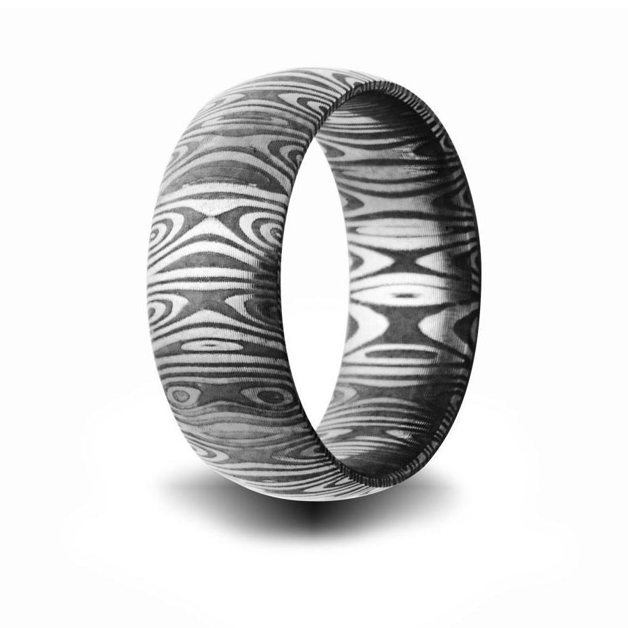 damscus steel wedding ring