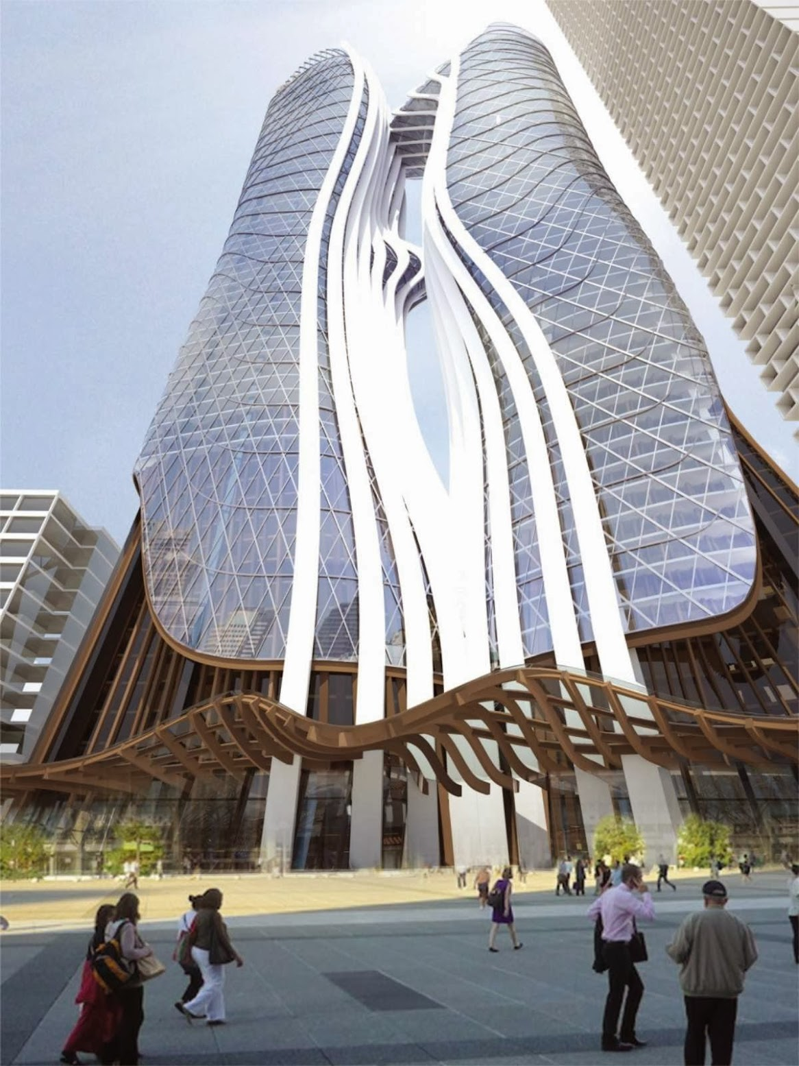 Parramatta Square Stages 5 6 Towers by Esan