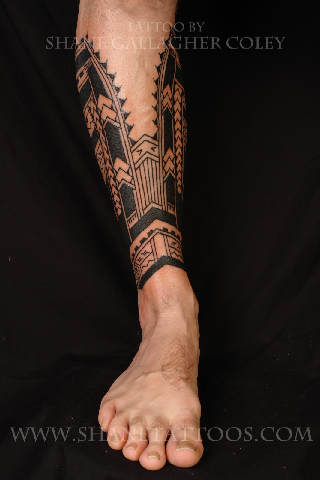 Polynesian Calf Tattoo on Cam
