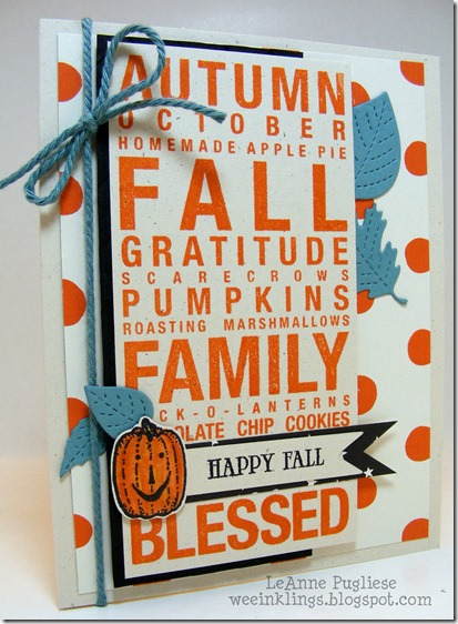 LeAnne Pugliese WeeInklings Happy Fall Close to My Heart Poster Tidings
