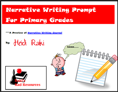 Free download - narrative writing prompt for primary grades from Raki's Rad Resources.