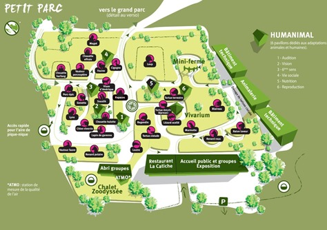 Zoodyssée petit parc plan