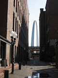 The St Louis Arch as we're walking downtown St Louis 03202011