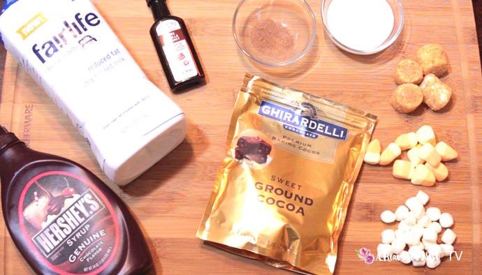 DIY Hot Cocoa Bar ingredients