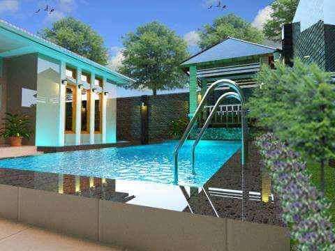 desain kolam renang graha wisesa