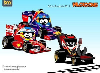 Кими Райкконен с мороженкой на Lotus - pilotoons по Гран-при Австралии 2013