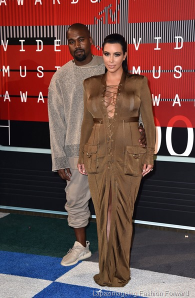 Kanye and Kim Kardashian-West
