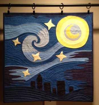 Blue Starry Night - June block