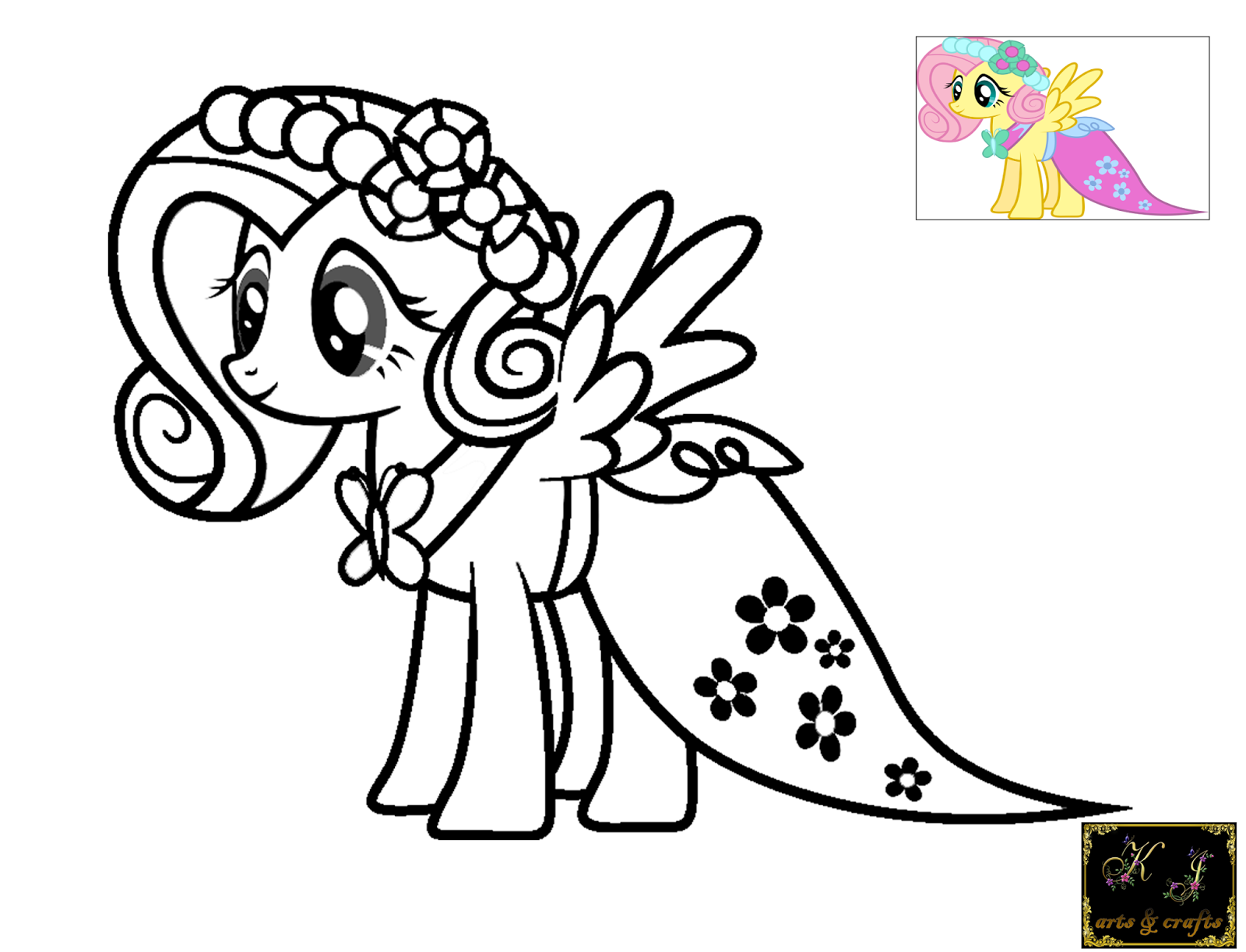 fluttershy coloring pages - My Little Pony Fluttershy Coloring Pages Memutihkan Kulit