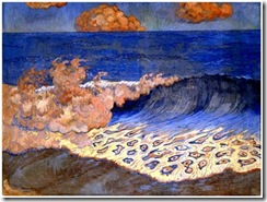 Georges_Lacombe-1868-1946-Marine_bleue,_Effet_de_vague,circa_1893,peinture_à_l'oeuf_sur_toile,43x64,2_cm,Musée_des_Beaux-Arts_de_Rennes