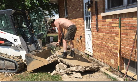 Busting up concrete for a backyard diy project