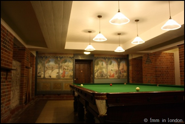 Eltham Palace - Billiards Room in Wartime bunker