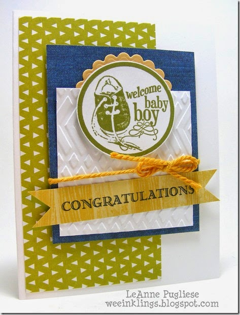 LeAnne Pugliese WeeInklings Baby Boy Congrats
