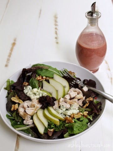 Oven Roasted Turkey Salad || asheylovestocook.com