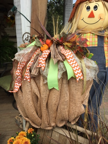 rustic fall decorating
