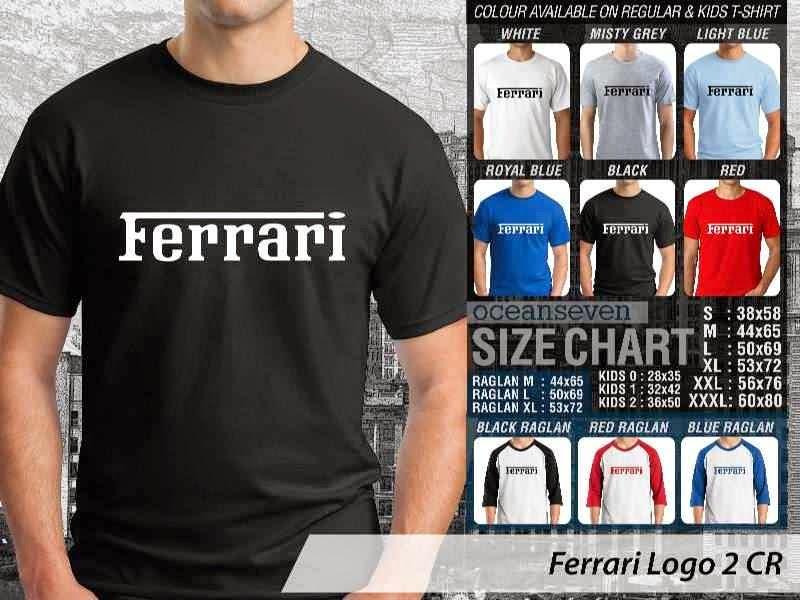 KAOS Ferrari 2 Logo Otomotif distro ocean seven