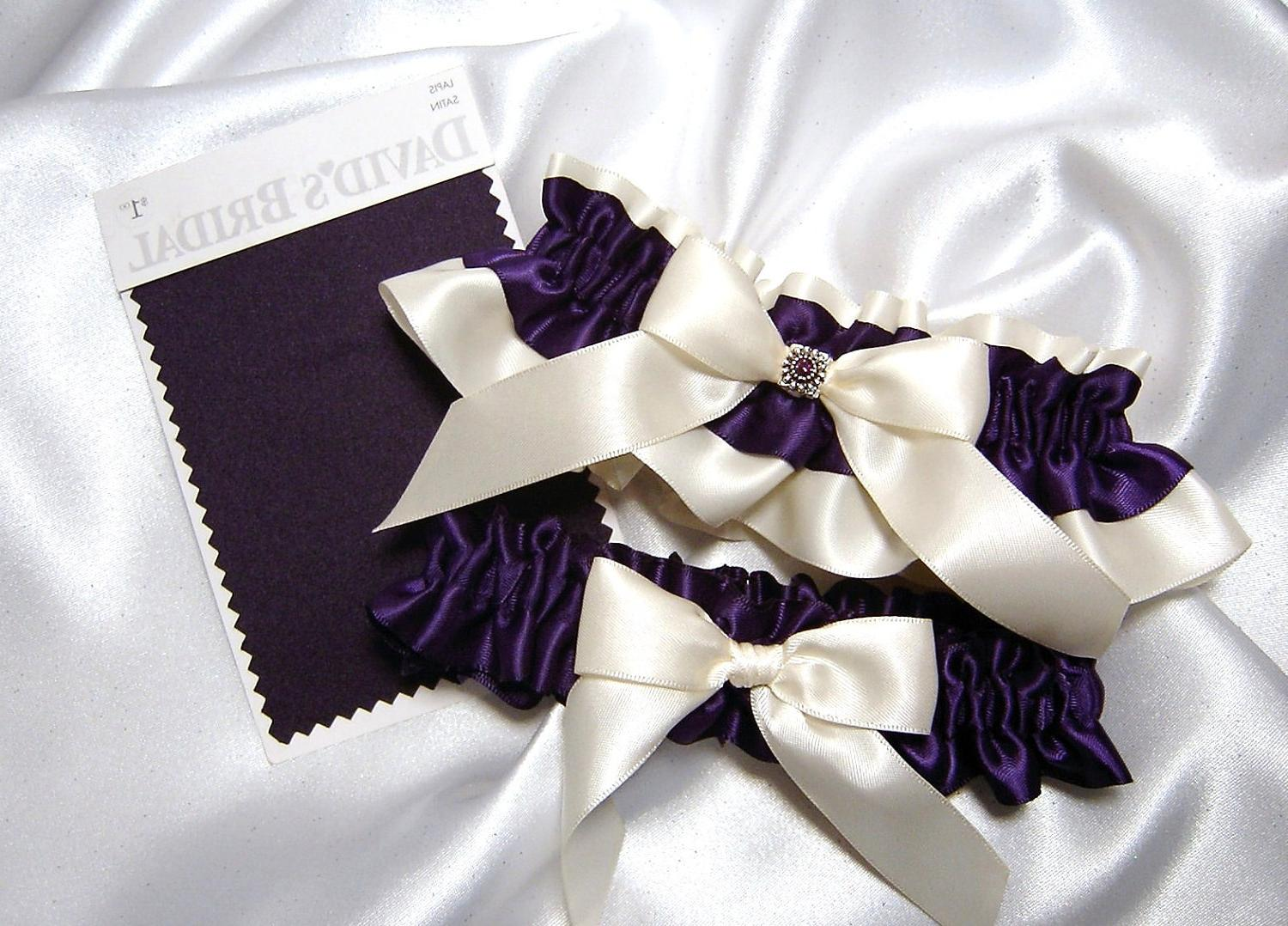 Ivory Satin Wedding Garter