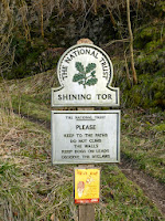 Shining Tor National Trust sign