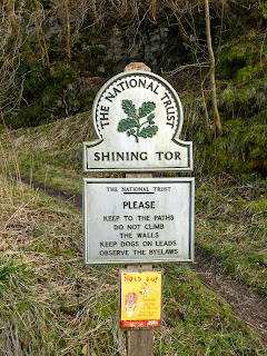 Shining Tor National Trust sign