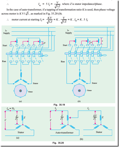 Computations and circle diagramsstarting of induction motors supply or by auto transformer is i1 k i2 k isc if magnetising current of the transformer is ignored hence we find that although motor current per ccuart Choice Image