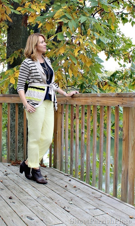 yellow-pants-striped-cardigan-brown-booties-1