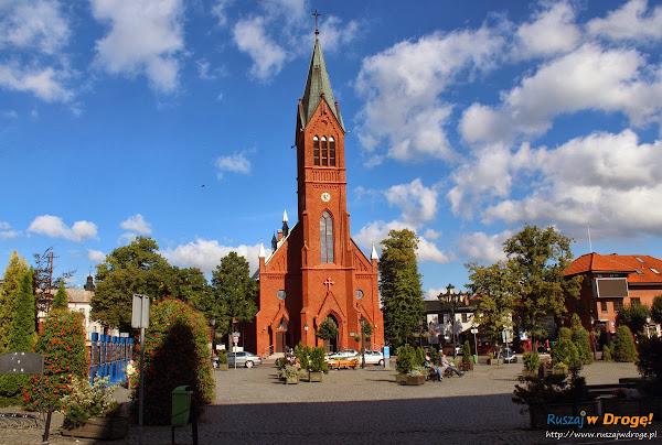 Kartuski rynek - kościół św. Kazimierza