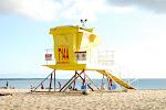 Lifeguard tower at Big Beach
