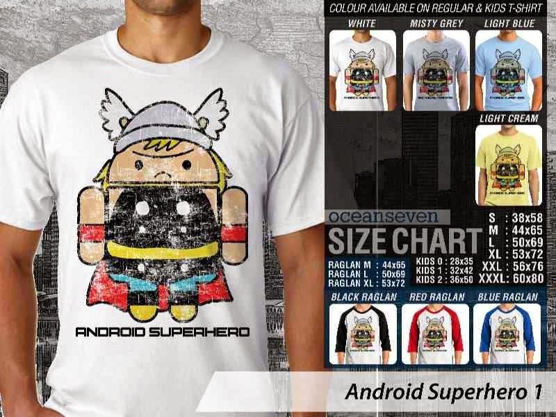 Jual Kaos Captain America Android Superhero