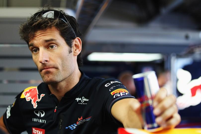 Марк Уэббер ставит банку Red Bull на Гран-при Японии 2011