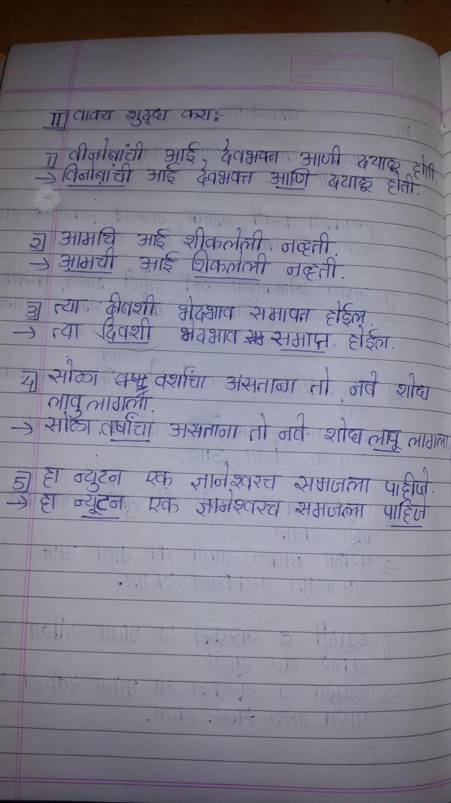 9 th marathi grammar