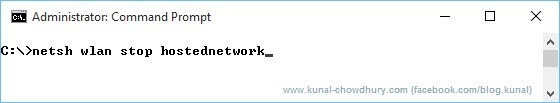 Stop a hosted network (www.kunal-chowdhury.com)