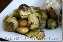Sriracha Roasted Brussels Sprouts