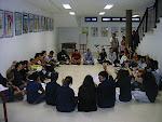 Participantes en el Foro Joven Scout Insular