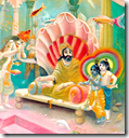[Krishna and Balarama visiting Varuna]
