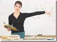 Una docente