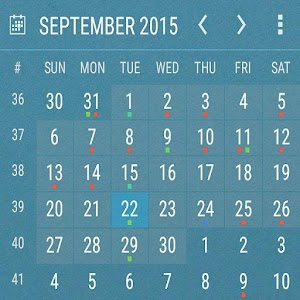 Календарь виджет KEY