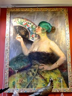 Подписная картина в стиле Модерн. ок.1900 г. Холст, масло. Деревянная золочёная рама. 120/90 см. 7000 евро.