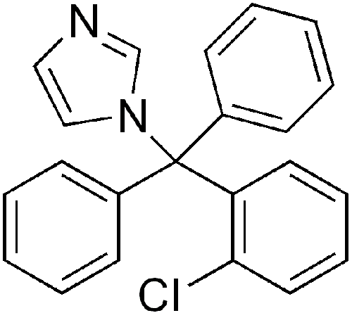 Clotrimazole  structure