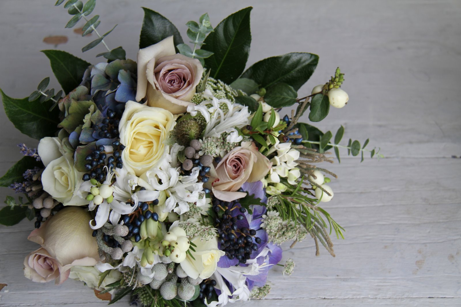 Winter Blue Wedding Bouquet